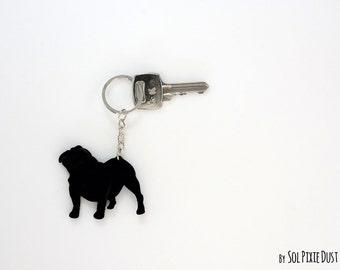Bulldog Keychain Silhouette
