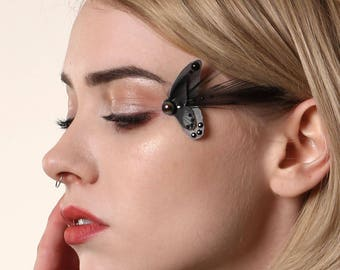 Black Eyelash Butterfly Decoration