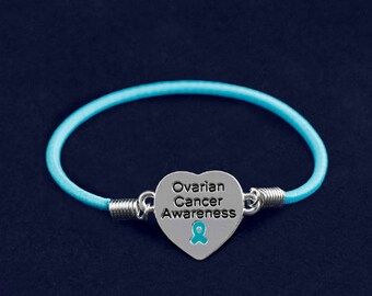 Fund raising item / Ovarian Cancer / non profit / customized stretch bracelets