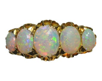 Victorian Opal 5 Stone Ring