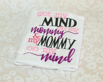 Mothers Day Shirt, i love Mommy shirt, Mommy and me shirt, first mothers day, mothers day gift, moms shirt, mommy, mommy on my mind, funny