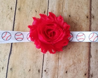 Baseball Headband, Baby Headbands, Girl Headband, Baby Girl Headbands, Infant Headbands, Baby Bows