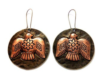 bronze Eagle earrings