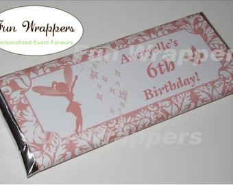 Damask Fairy candy bar wrapper | Damask fairy Chocolate Bar Wrapper | Fairy Birthday Party | Fairy Party | Fairy favor | Fairy favour