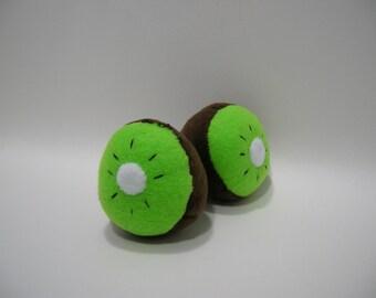 Hand-made Kiwi Fruit Catnip Filled Cat Toy