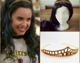 Evie Disney Descendants Crown, Evie Descendants Tiara , Evie Headpiece ,Evie costume,Descendants Headpiece ,Evie Gold Tiara ,Evie Gold Crown