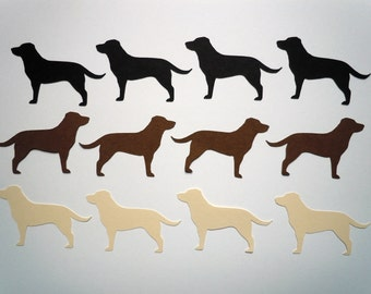 Labrador Scrapbook Cutouts- 36 Piece Set