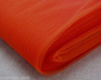 Tulle Netting Dress Fabric 140cm Wide 30 Colour Range - Hibiscus