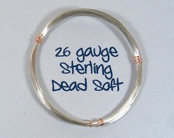 Sterling Silver Wire - 26ga DS - Choose Your Length