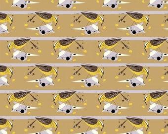 Cactus Wren Canvas 100% Organic Cotton by Birch (Western Birds Collection)