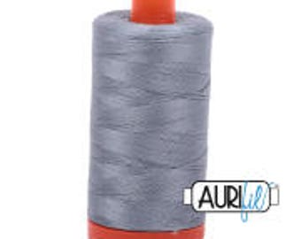 Aurifil Italian Threads-100% Cotton 40wt Piecing and Applique-Large Spool 1092 Yards-2610 Light Blue Grey