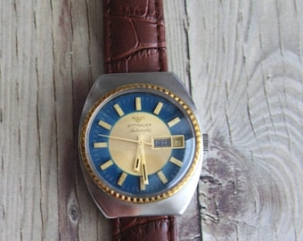 Vintage Wittnauer Automatic Wrist Watch with Day and Date by avintageobsession on etsy...FREE USA Shipping