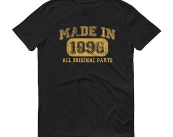 Men's 1996 Birthday Gift, Vintage Born in 1996, 22nd Birthday shirt for him, Made in 1996 T-shirt, 22 Year Old Birthday