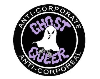 "GHOST QUEER | 3""x3"" Vinyl Sticker"