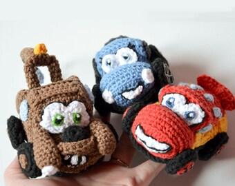 3 Cars Crochet PATTERNs in 1