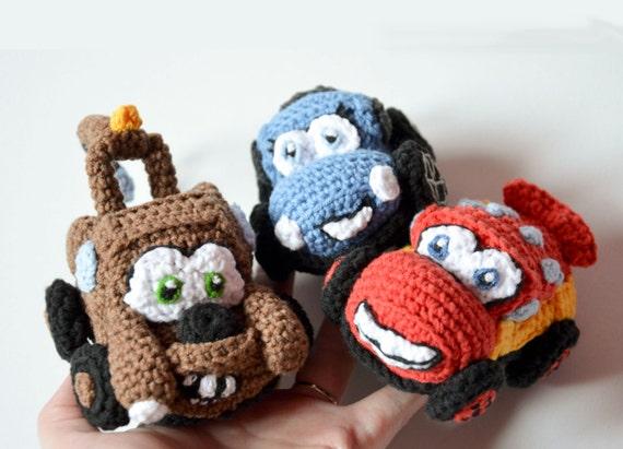Amigurumi Patterns Cars : 3 cars crochet patterns in 1