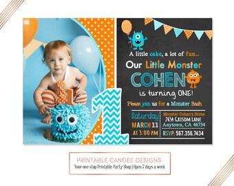 Little Monster Birthday Invitation Monster Invitation