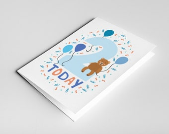2 year old birthday card kids birthdays cards age cards 2 year old birthday card kids birthdays cards age cards baby card bookmarktalkfo Images