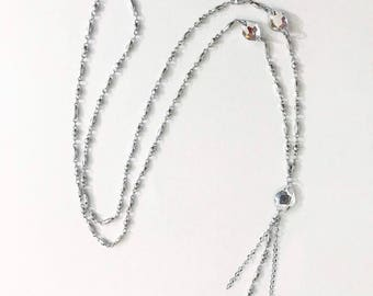 Chain and Swarovski necklace