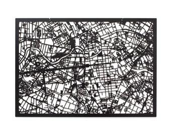 3D City Map of BERLIN, 59x42cm (73x53cm)