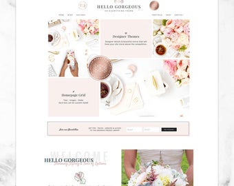 Wordpress Theme for Genesis, Feminine, Responsive