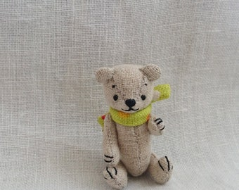"Artist Teddy Bear ""Kuma-ro/natural"" made by sumomo bear, 1 1/2"""
