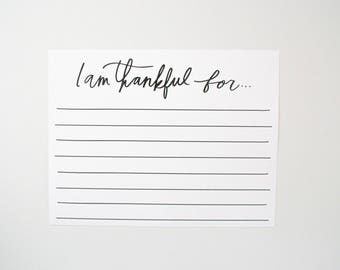 Gratitude Placemat - Thankful For Placemat - Print Yourself - Laminate