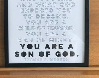 You are a Son of God {12x12 Print}