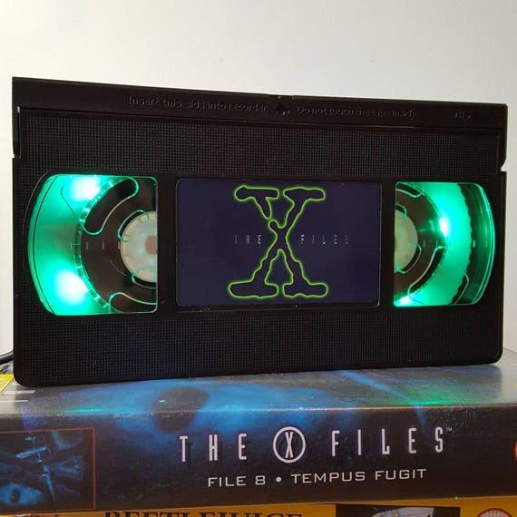 Retro VHS Lamp X Files Scifi Night Light Table Lamp. Order any
