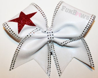 Gorgeous Rhinestone and Star Custom Cheer Bow by FunBows !!