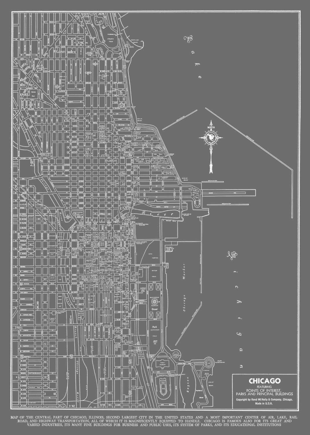 Chicago Map Poster | compressportnederland on