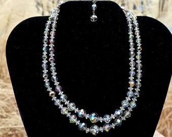 Vintage Laguna Aurora Borealis Crystal Choker