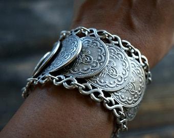 Mualla Coin Bracelet Bohemian Jewelry Gypsy jewelry