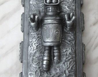 Bender frozen in carbonite robot futurama collectible figurine