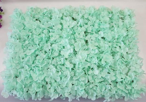 Mint wedding flower wall backdrops mint silk hydrangea flowers mightylinksfo Images