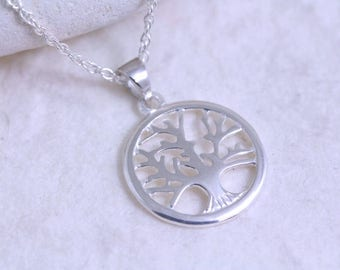 Sterling Silver Tree of life Necklace . 925 Silver Family Tree . Mother Jewelry , Most Popular items for silver tree