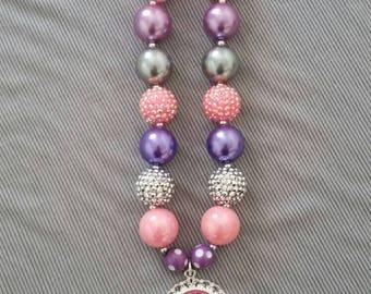 4th Birthday chunky bead necklace