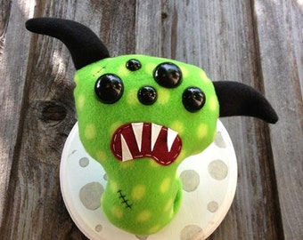 Green & Yellow Polka Monster Headmount