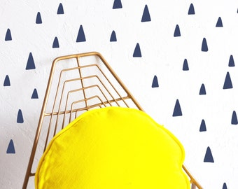 Wall Decal Rounded Tiny Triangles Wall Sticker Room Decor