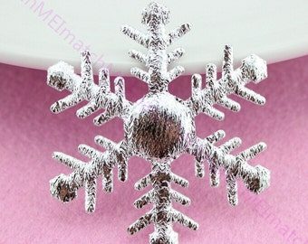 """Glitter Snowflakes, Silver Snowflakes Confetti, Felt Snowflakse, 2.48"""" Snownflakes Die Cuts(Pack of 50pcs)"""