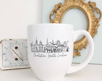 Charleston, South Carolina Skyline Mug