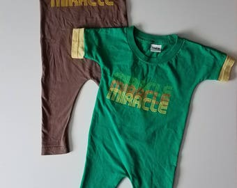 Miracle Upcycled T-Shirt Romper TWINS Set