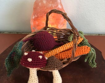 Crochet Veggies childrens play set