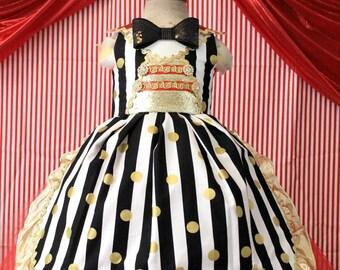 Circus Carnival Ring Master tutu dress-Ringmaster tutu dress- circus clown party birthday dress-Ring Master