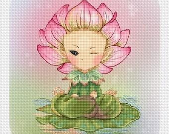 Cross stitch Chart Pattern Flower Sprites -  Lotus Sprite