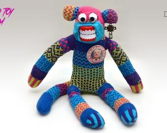 Twisted Toy Asylum Donny Creepy Sock Monkey Plush
