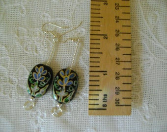 Hand Painted Bead Earrings