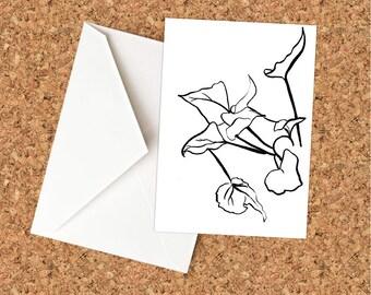 Begonia Greeting Card - Blank