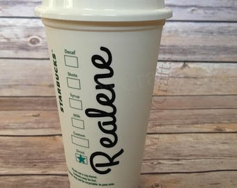 Happy Birthday Personalized Starbucks Cup, Custom Starbucks Cup Gift, 16oz Starbucks Cup, Personalized Tumbler, Bridal Party Cup
