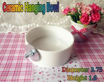 Ceramic Hanging Bowl Feeder Small Pets